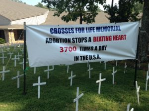 Crosses For Life Memorial Abortion Stops Beating Heart 3700 times a day
