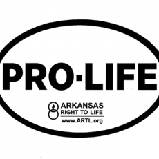 Pro-Life Oval Bumper Sticker Arkansas Right To Life