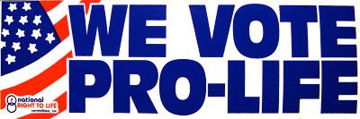 We Vote Pro Life